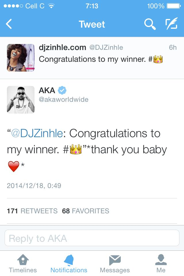 Who is dating dj zinhle and aka