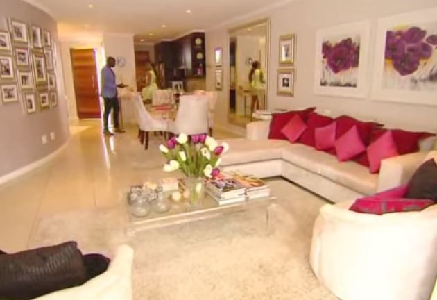 bonang matheba's living room