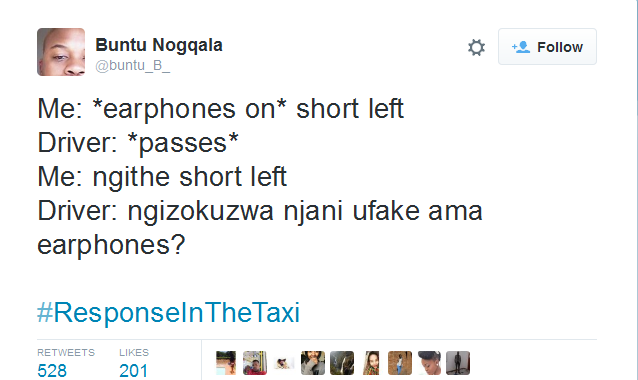 Photo of Top 10 Most Hilarious #ResponseInTheTaxi Tweets!