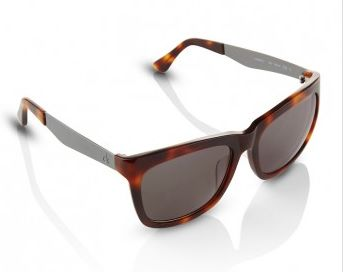 Wayfarer-sunglasses-with-silver-arm-in-brown