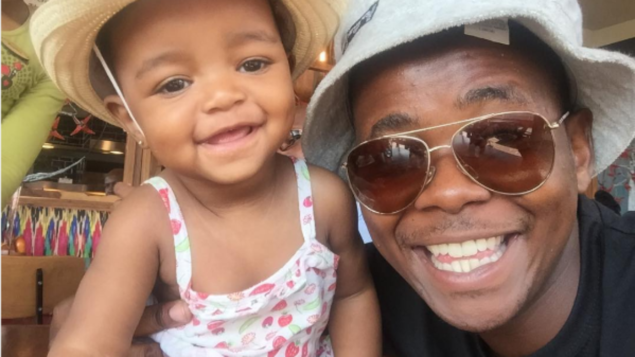 Skeem Saam's Cornet Mamabolo Celebrates His Daughter's First Birthday - OkMzansi
