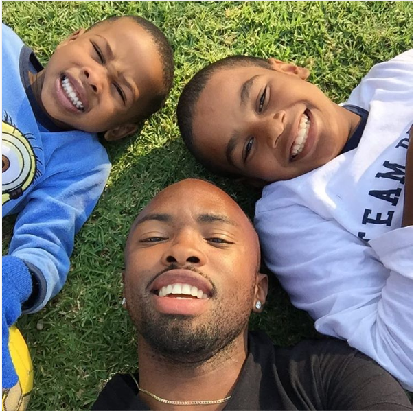 Cute Bernard Parker Spends Quality Time With His Sons