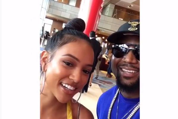 Cassper Nyovest's Awkward Run In With Chris Brown's Ex