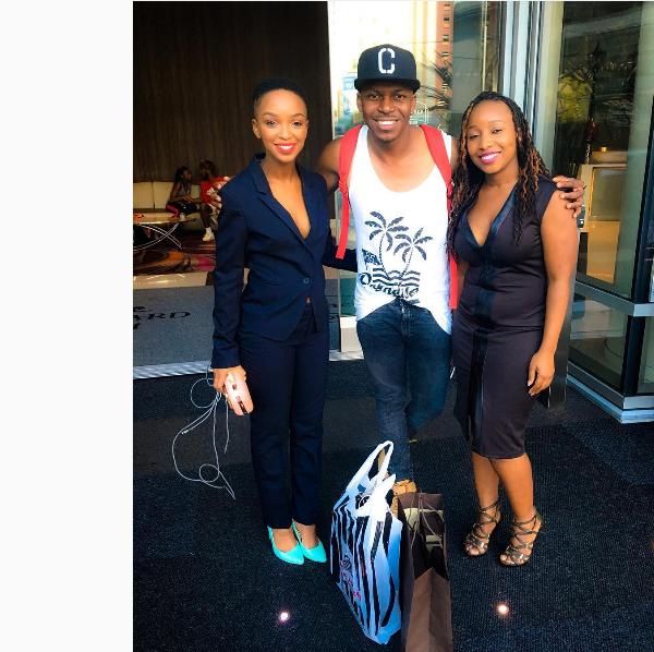 Nandi Mngoma Shows Off Her Cute Baby Bump In LA