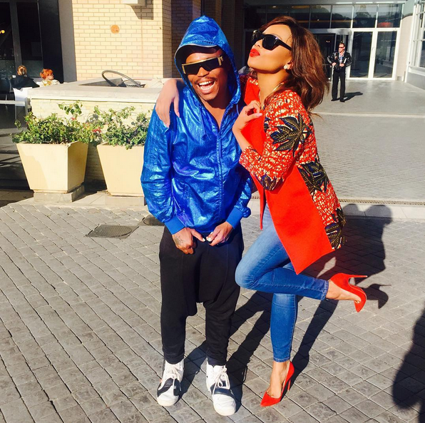 All Forgotten?! Somizi And Bonang All Smiles Posing For Photos