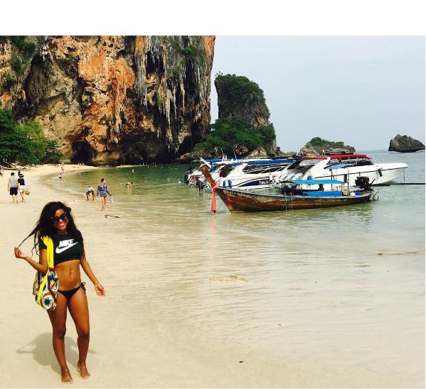 Khanya Mkangisa Flaunts Curves On Her Thailand Vacay