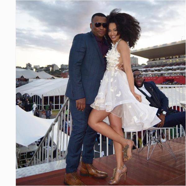 Robert Marawa And Pearl Thusi's Baed Up At Durban July