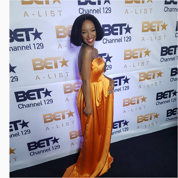 Nandi Madida's Baby Bump Steals The Show At BET Alist Launch