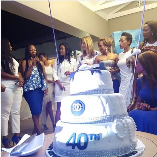 Pics Inside Sonia Sedibe S 40th Birthday Bash Okmzansi