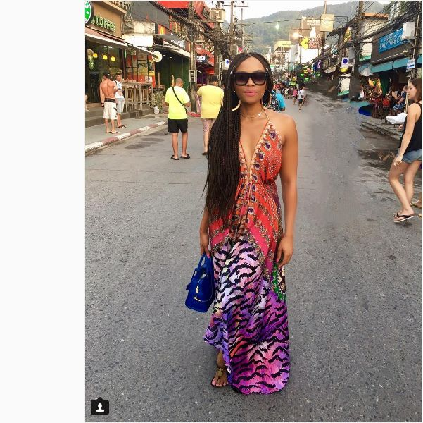Bonang Serves African Buttered Bikini Body In Thailand