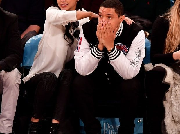 Trevor Noah And His Girlfriend Sit Courtside At A Basketball Game