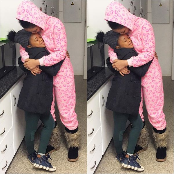 Sweet! Pearl Thusi Reunited With Her Daughter Thando
