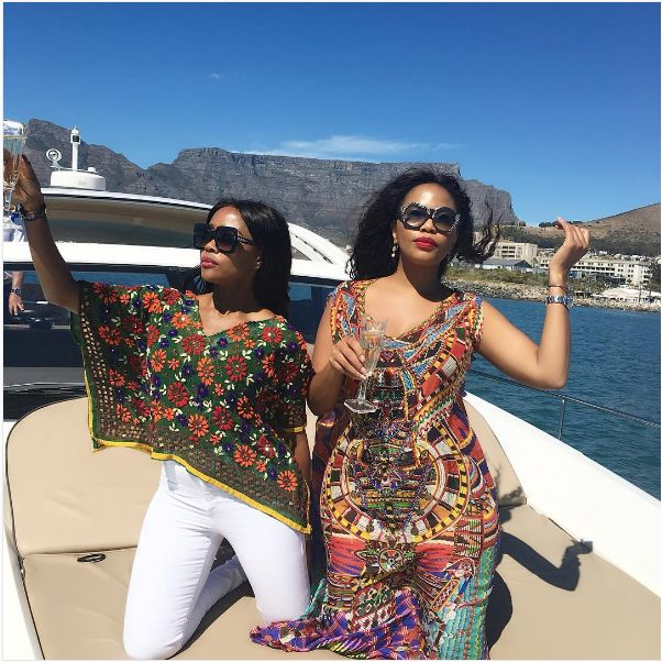 Thembi Seete Celebrates 40th Birthday In Style With BFF Terry Pheto