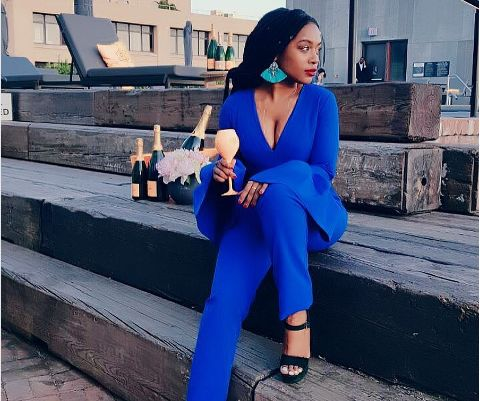 Nomzamo Sends A Hater Packing With A Classy Clap Back