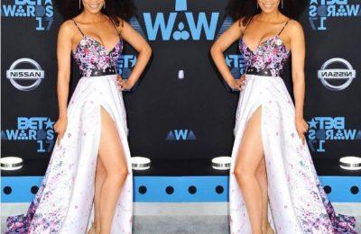 Pearl Thusi Impresses Fashion Critics At The BET Awards Carpet