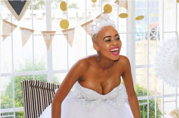 Pics! Inside Ntando Duma's All White Baby Shower