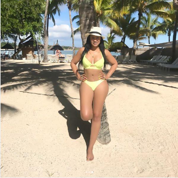 Nambitha in bikini