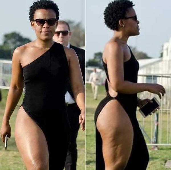 Twitter Reacts To Zodwa WaBantu's Durban July Dress
