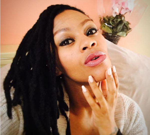 Lethoya Makhene Shares First Photo Of Her New Born Daughter
