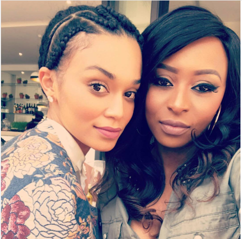 DJ Zinhle Sings Pearl Thusi's Praises On Motherhood