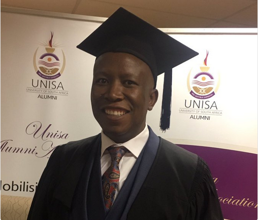 Pics! Julius Malema Graduates With His 2nd Degree