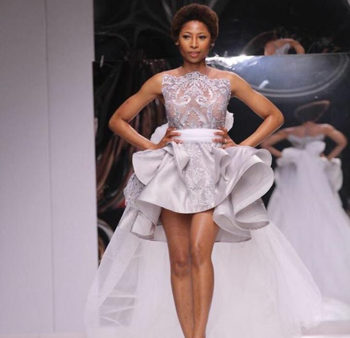 Watch! Enhle Mbali Slays The Runway At SA Fashion Week