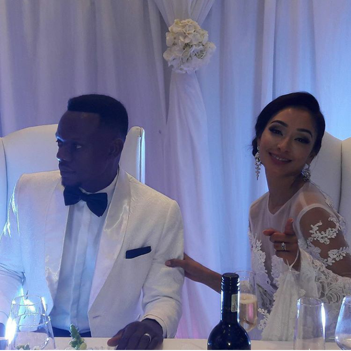 Pics! Inside Slikour And Melisa's White Wedding