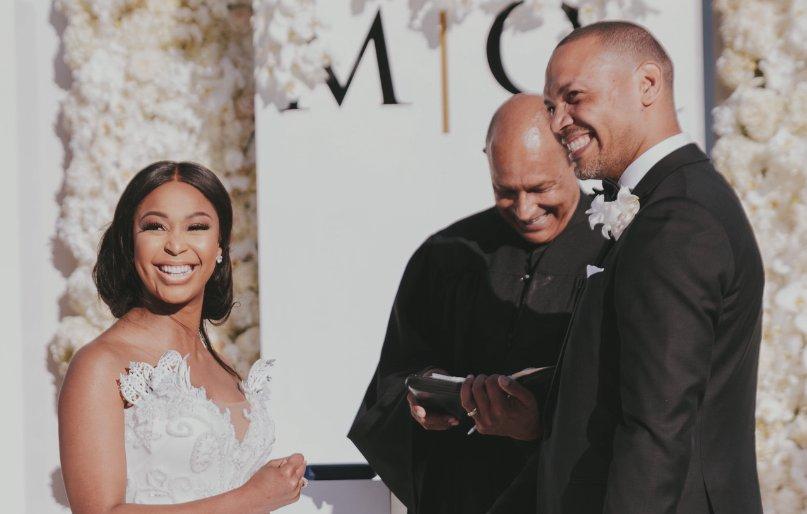 Pics! Minnie Dlamini Jones' Magical White Wedding