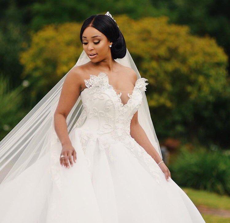 White Wedding Dress Mini: Pics! Minnie Dlamini Jones' Magical White Wedding