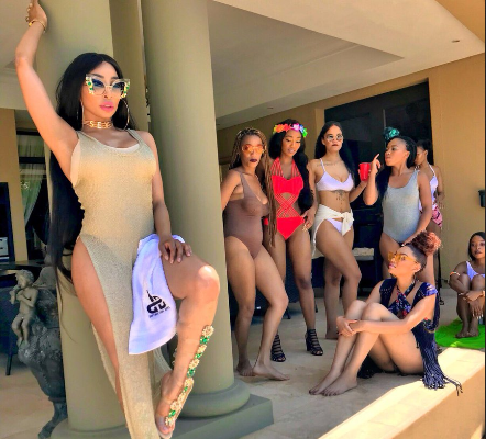 Khanyi Mbau Throws Shade At Video Vixens: Twitter Reacts