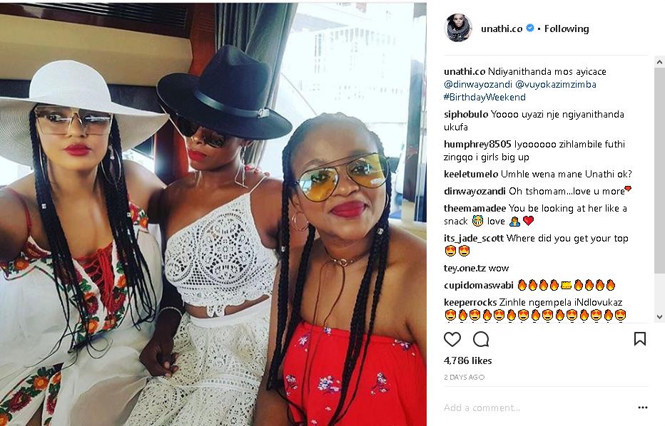 Pics Inside Unathi S Lit Birthday Getaway Okmzansi