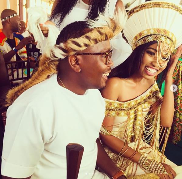 Pics! Inside Khaya And Ntando Mthetwa's Traditional Wedding