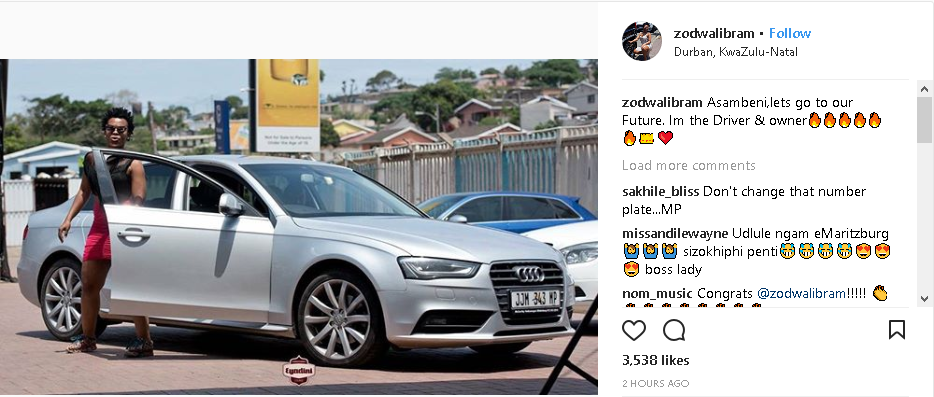 Thank You Dj Tira Zodwa Wabantu S Shows Off New Car