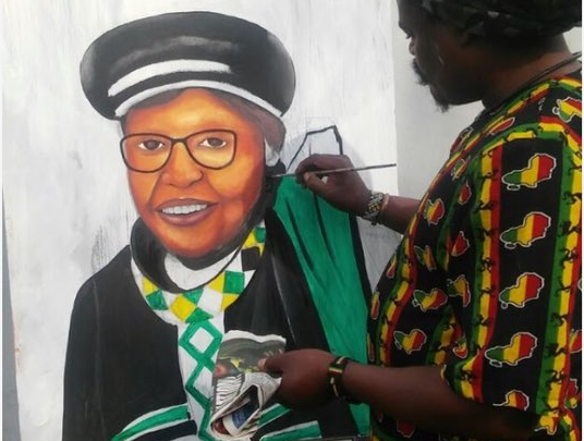 Black Twitter Reacts To Botched Painting Of Mama Winnie