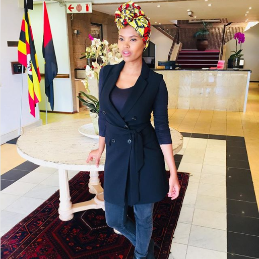 Gail Mabalane Shares First Photo Of Her Son