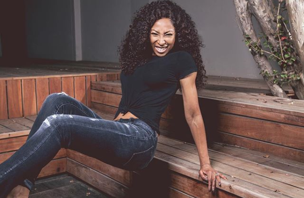 Pics! Enhle Mbali Casually Hangs Out With Singer Cassie