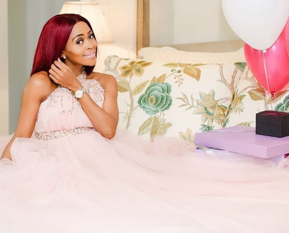 Thembi Seete Announces The Birth Of Her First Child On Mother's Day