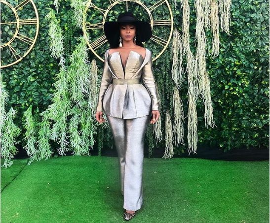 In Pics! The Best Dressed Celebs At The Durban July 2018 - OkMzansi