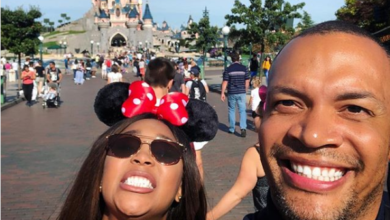Pics! Minnie Dlamini-Jones And Her Hubby Take On Disneyland Paris
