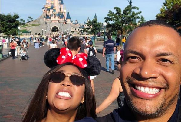 Pics! Minnie Dlamini-Jones And Her Hubby Take On Disneyland Paris
