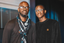 Photo of Watch! Black Coffee's Son Hilariously Makes Fun Of How He DJs