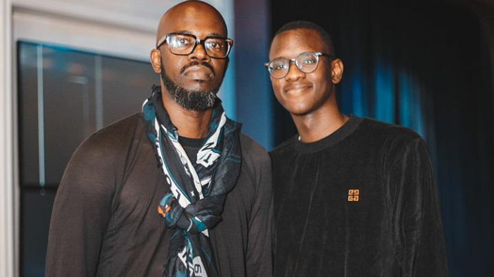 Watch! Black Coffee's Son Hilariously Makes Fun Of How He DJs