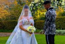 Pics! Inside Dineo Moeketsi And Solo's Intimate White Wedding
