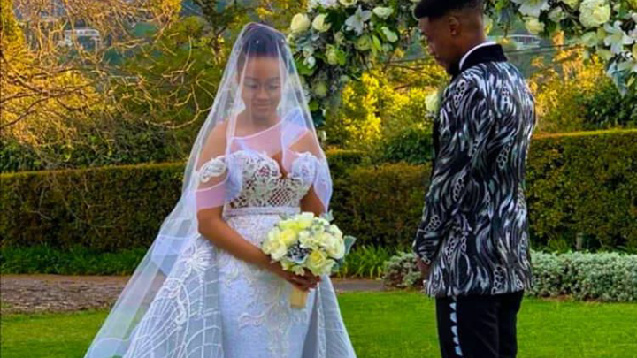 Pics! Inside Dineo Moeketsi And Solo's Intimate White Wedding