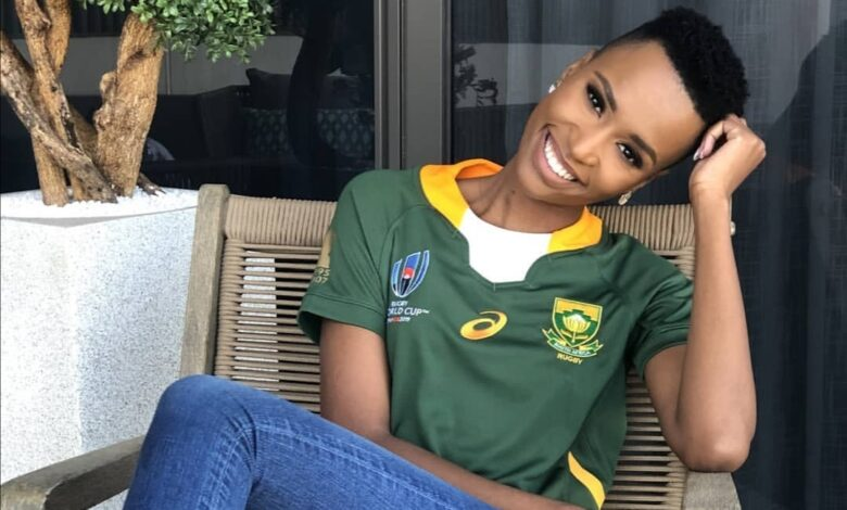 Black Twitter Reacts To Miss SA Zozi Tunzi Looking Like She Was Ready To Risk It All For Rugby Star Mapimpi