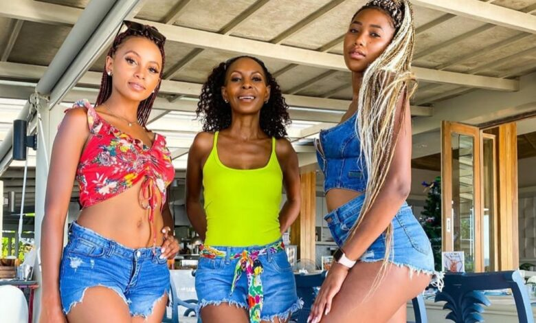 Mom Goals! Celeste Khumalo Serves Bikini Goals With Her Mother And Sister
