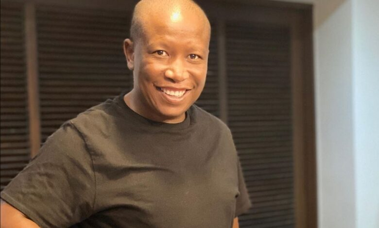 Julius Malema Carrying His Toddler Son On His Back Is Quarantine Dad Goals!