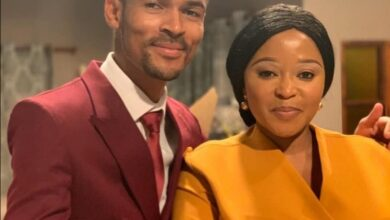 Photo of Skeem Saam's Pebetsi Matlaila Gives Her TV Husband Eric Macheru A Sweet Shoutout!