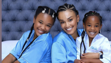 Photo of Watch! Pearl Thusi's Daughters' Reaction To Her Returning Home After 2 Months In Thailand Working