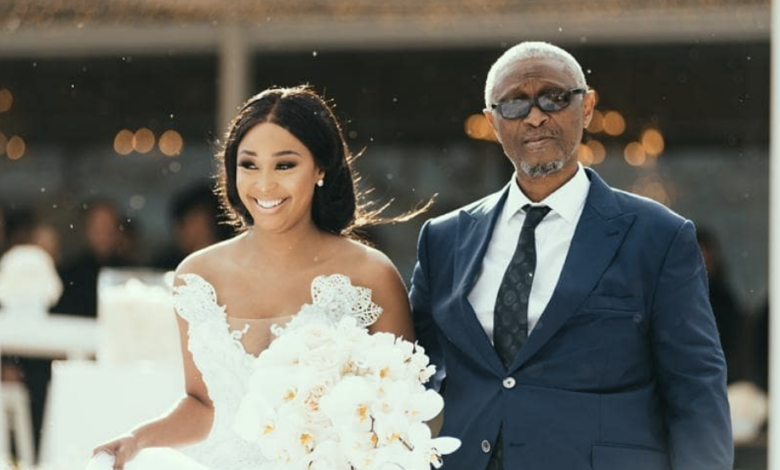Pic! Minnie Dlamini Jones Shares Adorable Photo Of Her Father Holding Her Son In Celebration Of His Birthday